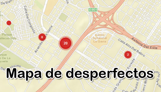 Mapa de desperfectos