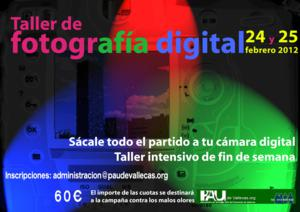 Cartel taller fotografía digital